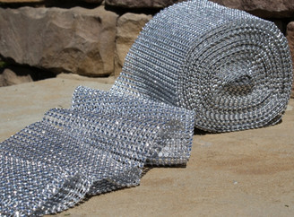 "Glimmer Diamond Wrap - Silver - 4.75"" X 30ft"