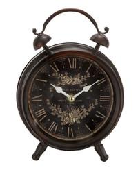 "Antique Clock - Vintage Design - Floral - 9"" x 6"""