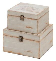 """Collector Wood Box Set- France Box - 2 Pcs- 10"""" and 8"""""""