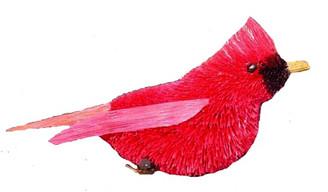 "Handmade Ornament - Cardinal - 3.5"""