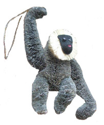 HANDMADE ORNAMENT - GRAY GIBBON