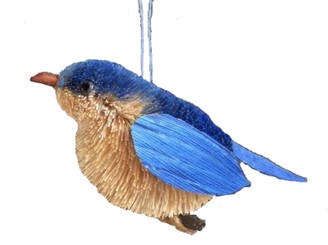 HANDMADE ORNAMENT - BLUE BIRD