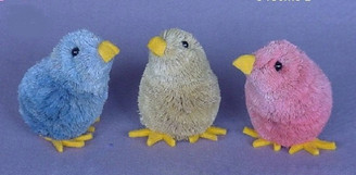 HANDMADE ORNAMENT - CHICKS - ASST. COLORS