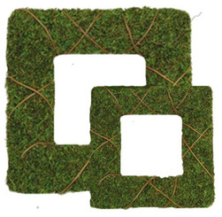 "MOSS WREATH SET - SQUARE - (SET OF 2-12"" & 24"")"