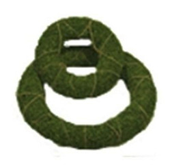 "MOSS WREATH SET - ROUND - (SET OF 2-7.5"" & 12"")"