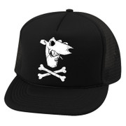 Cap Screeching Weasel skull trucker hat