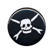 Button Teenage Bottlerocket skull