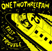 "CD One Two Three Faw ""Fast and Trouble"" Onetwothreefaw Striped Music"