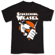 Black T-shirt Screeching Weasel Clockwork Weasel