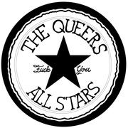 The Queers All Stars logo sticker