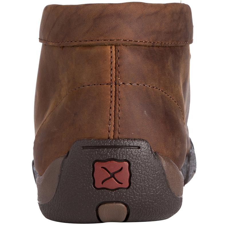 TWISTED X MEN'S DISTRESSED SADDLE STEEL-TOE DRIVING MOC - FREE SHIPPING