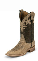 LADIES JUSTIN ANTIQUE BEIGE COWHIDE BOOT - FREE SHIPPING