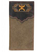 HOOey Orange and Brown Rodeo Wallet