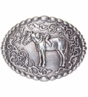 "Nocona Youth's ""First Love"" Horse Buckle"