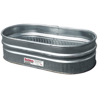 4' GALVANIZED ROUND END SHEEP TANK (APPROX. 44 GAL)