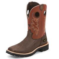 MEN'S TONY LAMA WALNUT ELEPHANT PRINT WORK BOOT