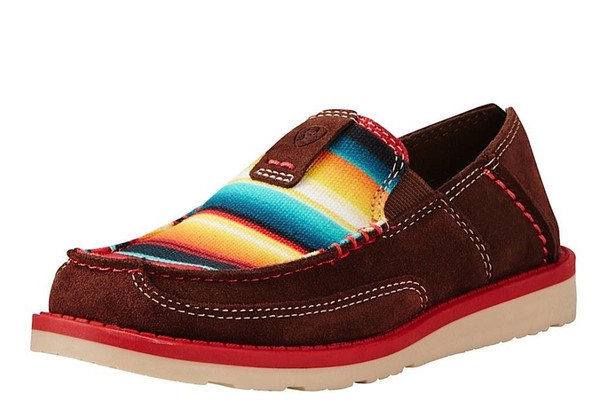 ARIAT KID'S CRUISER PALM BROWN/SERAPE PRINT SHOE