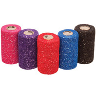 POWERFLEX GLITTER FLEXIBLE COHESIVE BANDAGE - 4""