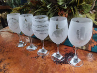 FROSTED WINE GLASSES