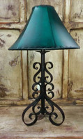 BLACK SCROLLED ROD IRON LAMP - SHADE SOLD SEPARATELY