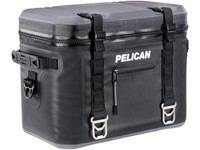 PELICAN ELITE 24 CAN COOLER - 25 QT - BLACK AND GREY