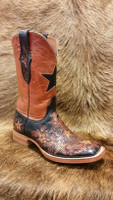 BLACK JACK HAND TOOLED STAR W/ MAD DOG TOP BOOT