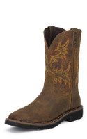 JUSTIN RUGGED TAN COWHIDE WORK BOOT - FREE SHIPPING