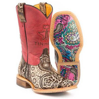 KID'S TIN HAUL PAISLEY ROCKS BOOTS W/ PAISLEY SOLE FROM DENNARDS