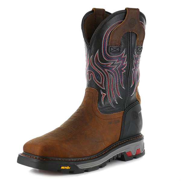 Men S Justin 5x Steel Toe Work Boot Free Shipping
