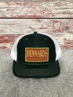 DENNARDS HUNTER GREEN/WHITE TRUCKER CAP