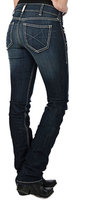 LADIES ARIAT ELLA STRAIGHT CELESTIAL MID-RISE JEAN FROM DENNARDS