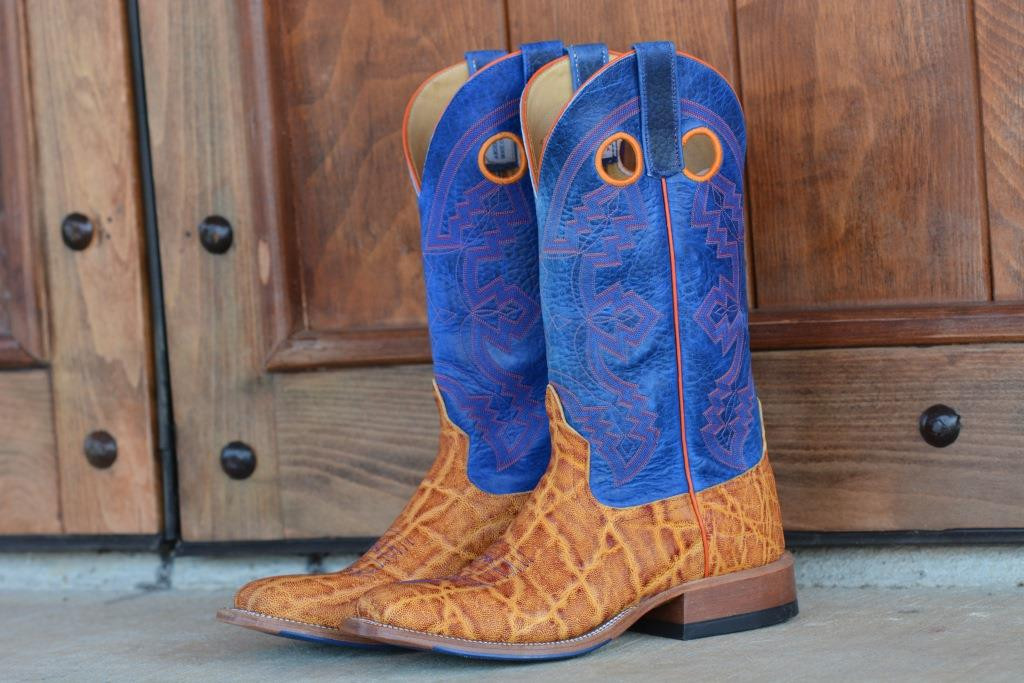 MEN'S ANDERSON BEAN ELEPHANT W/ BLUE TOP SQUARE TOE BOOTS FROM DENNARDS