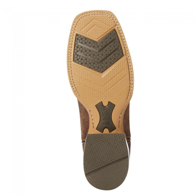 MEN'S ARIAT BRANDING PEN SCRATCHED SAND SQUARE TOE BOOTS FROM DENNARDS