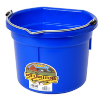 FLATBACK BUCKET 8QT BLUE