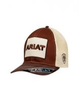 ARIAT LOGO CAP BRN/CRM