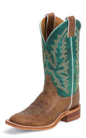 LADIES JUSTIN BENT RAIL AMERICAN BURNISHED TAN BOOT - FREE SHIPPING