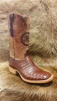 BLACK JACK BOOT SPORT RUST CAIMAN BELLY W/ TAN MAD DOG TOP