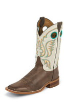 JUSTIN BENT RAIL MEN'S CHOCOLATE AMERICA BOOT