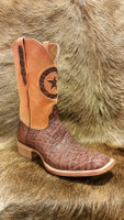 BLACK JACK BOOT SAFARI ELEPHANT W/ ORANGE DISTRESSED COWHIDE TOP