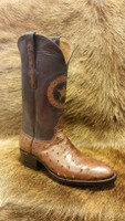 BLACK JACK FULL QUILL CIGAR OSTRICH WITH BROWN TOP BOOT