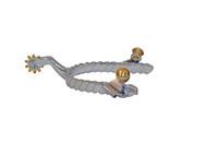 Ladies Stainless Steel Twisted Rope Spur