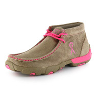 """WOMEN'S TWISTED X """"TOUGH ENOUGH TO WEAR PINK"""" LACE UP DRIVING MOC - FREE SHIPPING"""