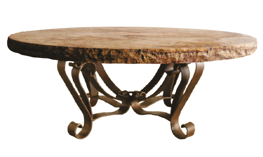 Round coffee table w chiseled top dennards for Round table 52 nordenham