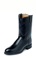 JUSTIN MEN'S BLACK ROPER BOOTS - FREE SHIPPING