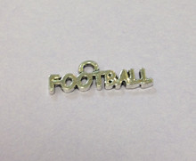 Football Charm 20x7mm, 20 pieces