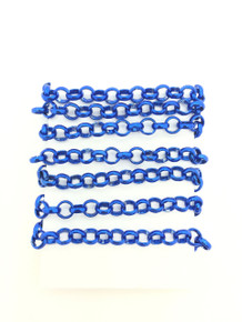 3 Feet of Blue 6mm Rolo Chain