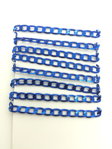 3 Feet of Blue 7mm Oval Link Chain