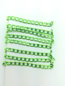 3 Feet of Lime Green 7mm Oval Link Chain