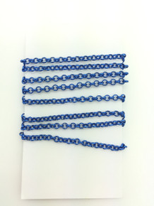 3 Feet of Blue 3mm Rolo Chain