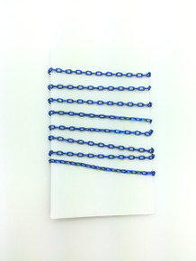 3 Feet of Blue 4mm Oval Link Chain